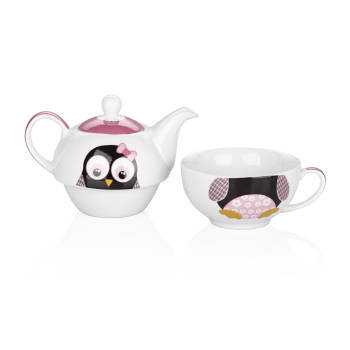 - 3 Parça Pembe Çay Seti