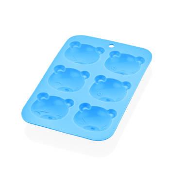 - 6'lı Ayı Form Kek - Kurabiye Kalıbı-Mavi