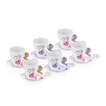 - Bernardo 6'lı Çay Fincanı - Kuşlu