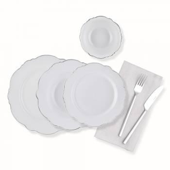 - 24 Parça Yemek Takımı-Platin