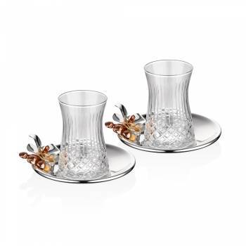 - Bernardo Gümüş Orkide 2'Li Çay Seti