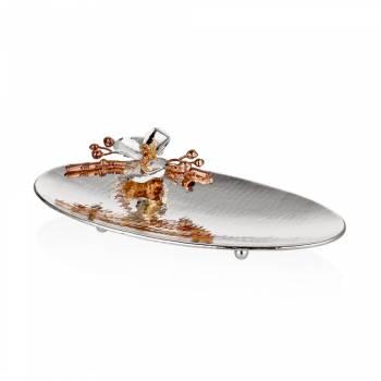 - Bernardo Gümüş Orkide Oval Tabak 23x43