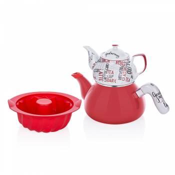 - Morning Çaydanlık Ve Kek Kalıbı