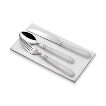 - Bernardo 18 Parça Beyaz Saplı Çatal Kaşık Bıçak Seti