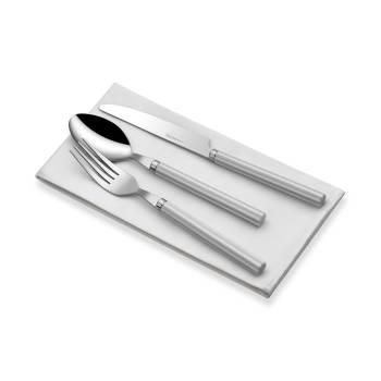 - Bernardo 18 Parça Gri-Beyaz Saplı Çatal Kaşık Bıçak Takımı