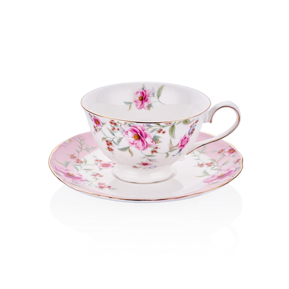 2'li Çay Fincan Takımı Çiçekli