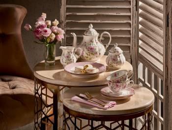 2'li Çay Fincan Takımı Çiçekli - Thumbnail