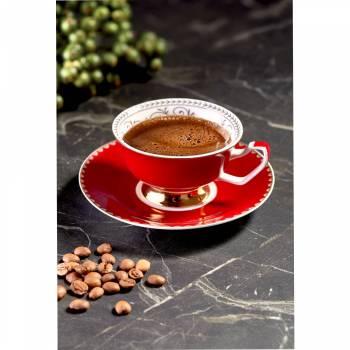 2'li Kahve Fincan Seti Kırmızı - Thumbnail