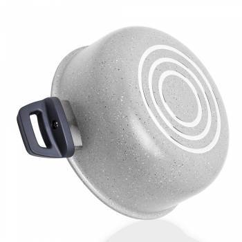 Porto 20 cm Derin Granit Tencere - Gri - Thumbnail