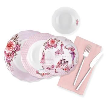 - Classic Fashion 24 Parça Yemek Takımı