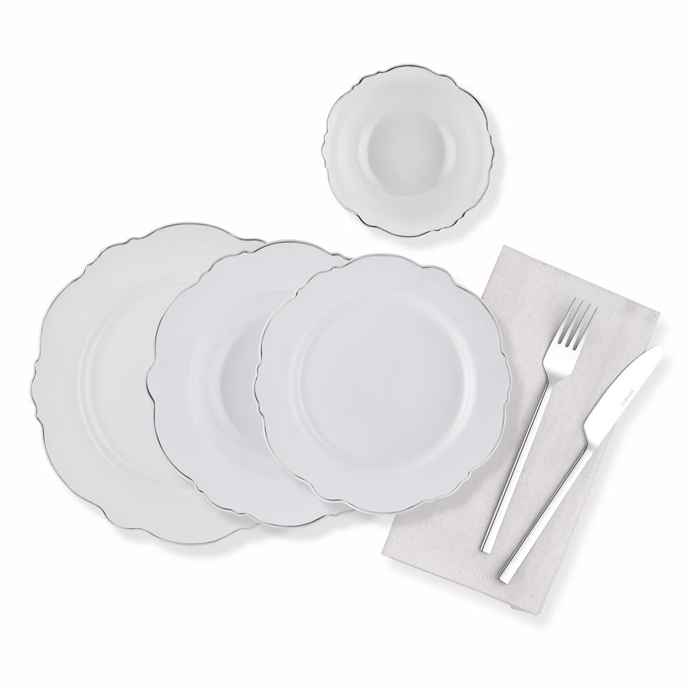 24 Parça Yemek Takımı-Platin