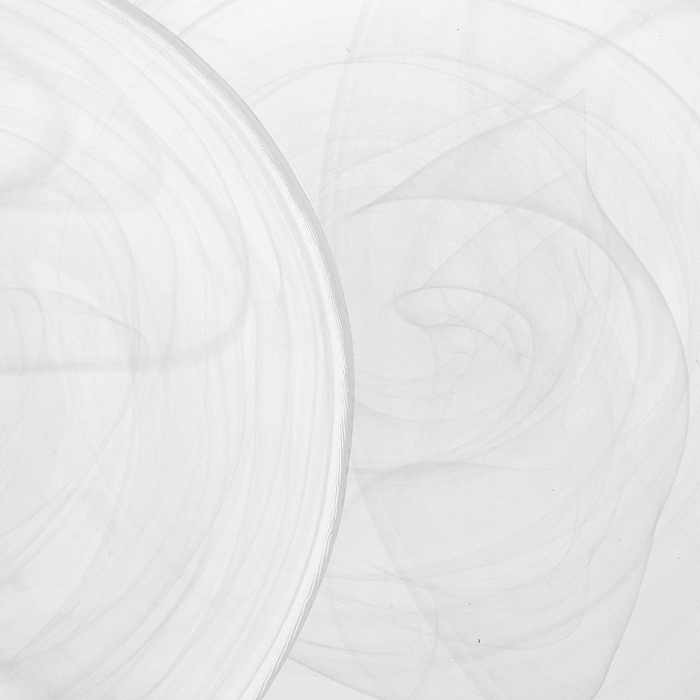 Alabaster 24 Parça Cam Yemek Takımı - Beyaz