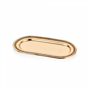 - Amber Oval Çelik Tepsi