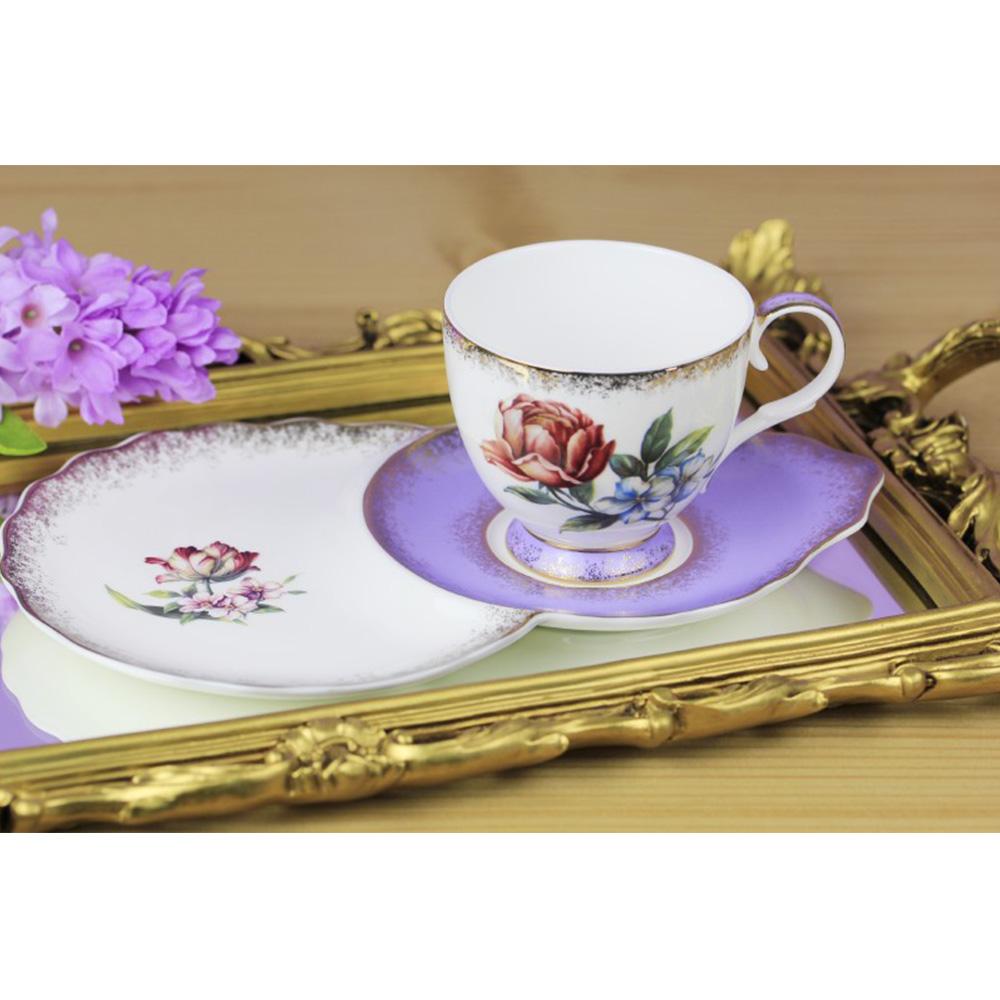 2'li Çay Fincanı - Mor