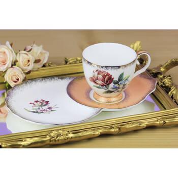 Biev - 2'li Çay Fincanı - Somon