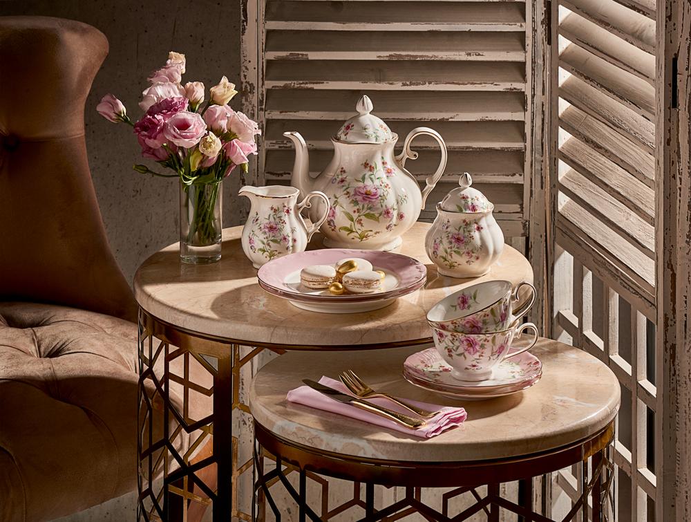 4'lü Kahve Fincan Takımı Çiçek
