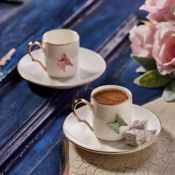 - Kelebek 4'lü Kahve Fincanı (1)