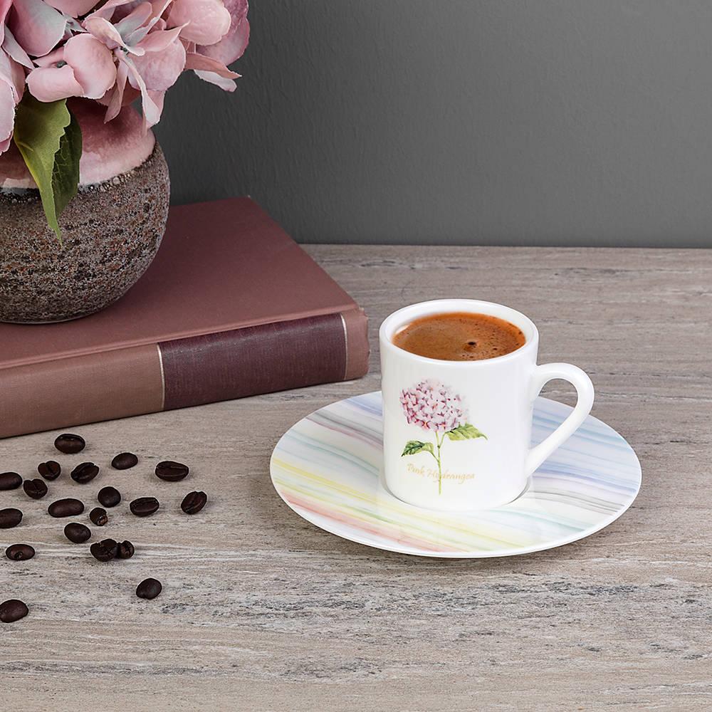 4 Kişilik 8 Parça New Bone China Kahve Fincan Takımı