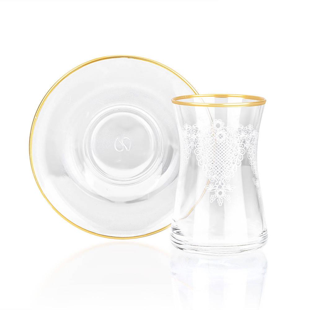 12 Parça Çay Seti - Gold