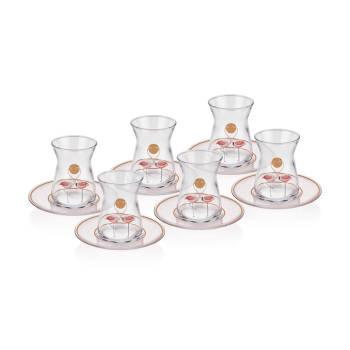 - 6'lı Çay Bardağı-Flamingo