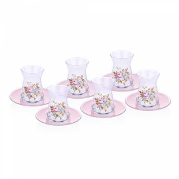 - 6'Lı Çay Bardağı-Lace Rose