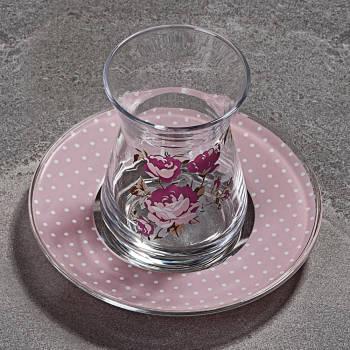 - 6'lı Çay Bardağı Romantic Rose