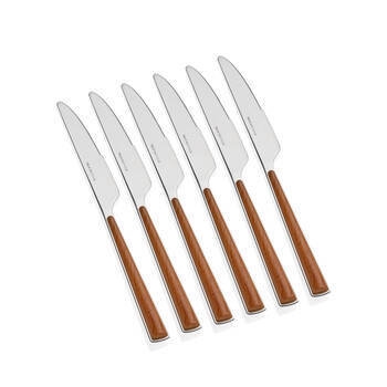 Bernardo - 6 Parça Yemek Bıçağı - Ahşap