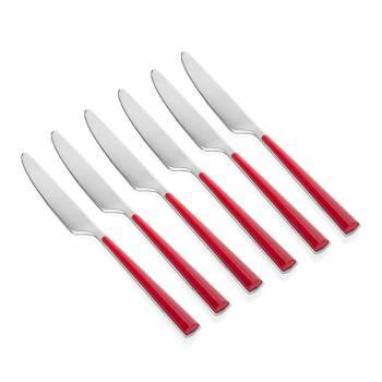 - Calcio 6 Parça Kırmızı Yemek Bıçağı Takımı