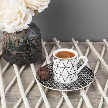 Bernardo - 6'lı Kahve Fincan Takımı - Siyah (1)
