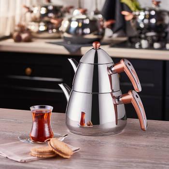 Aeris Çelik Çaydanlık Takımı - Thumbnail