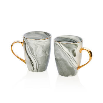 - Bernardo Altın Kulplu 6'li Mug Set