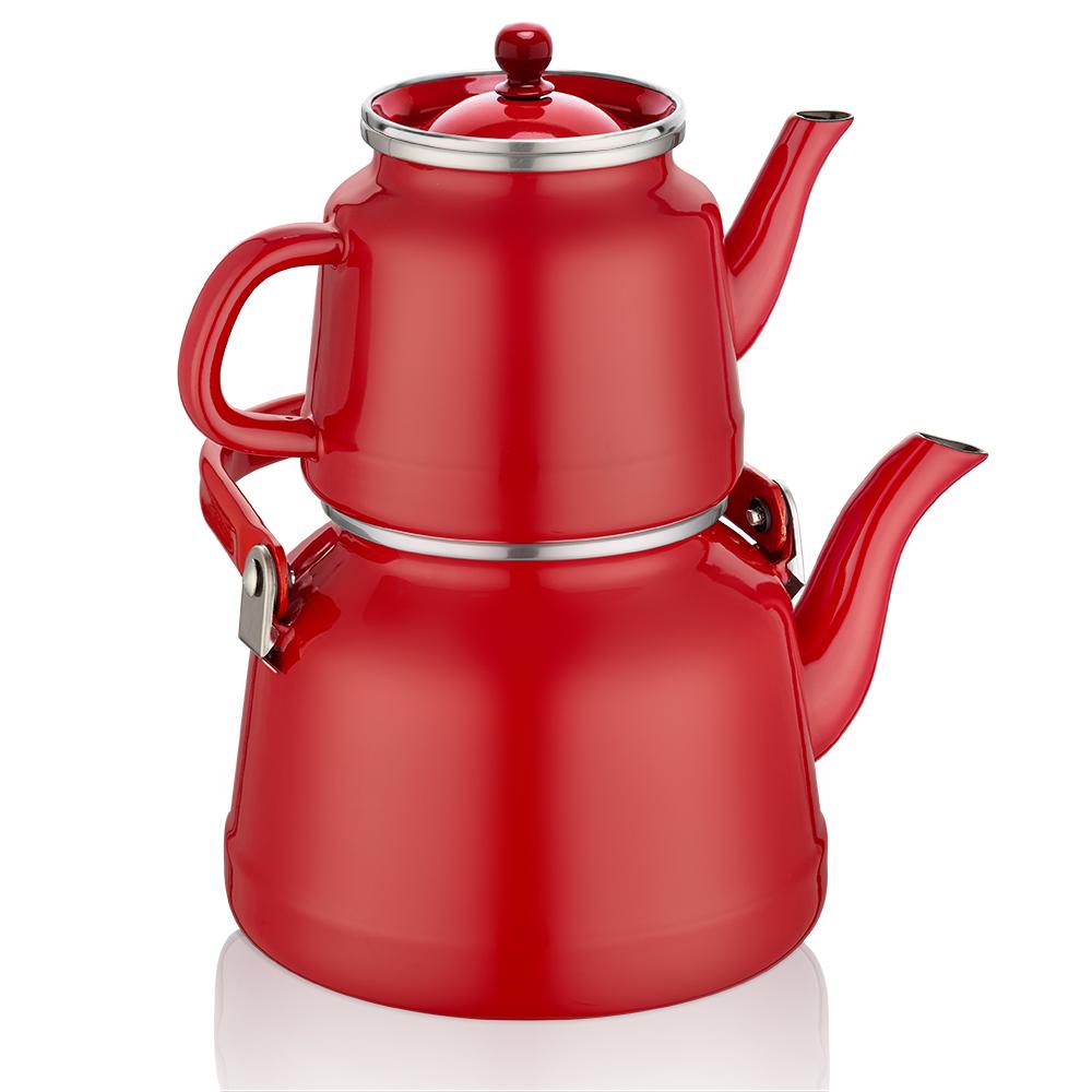 Anatolia Kırmızı Çaydanlık Takımı