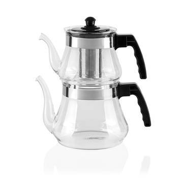 - Aruba 2'li Cam Çaydanlık Takımı