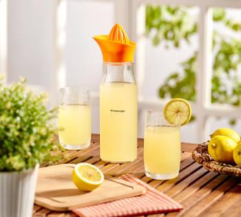 Asami Limon Sıkacaklı Cam Sürahi - 850 ml - Thumbnail