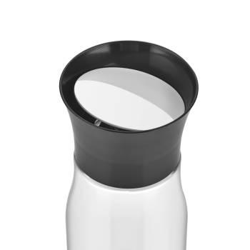 Asami Siyah Kapaklı Cam Sürahi - 850 ml - Thumbnail