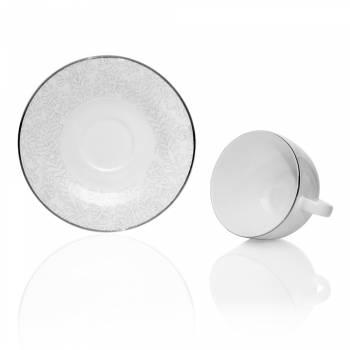 Azimut White 29 Parça Royal Bone China Yuvarlak Çay Seti - Thumbnail