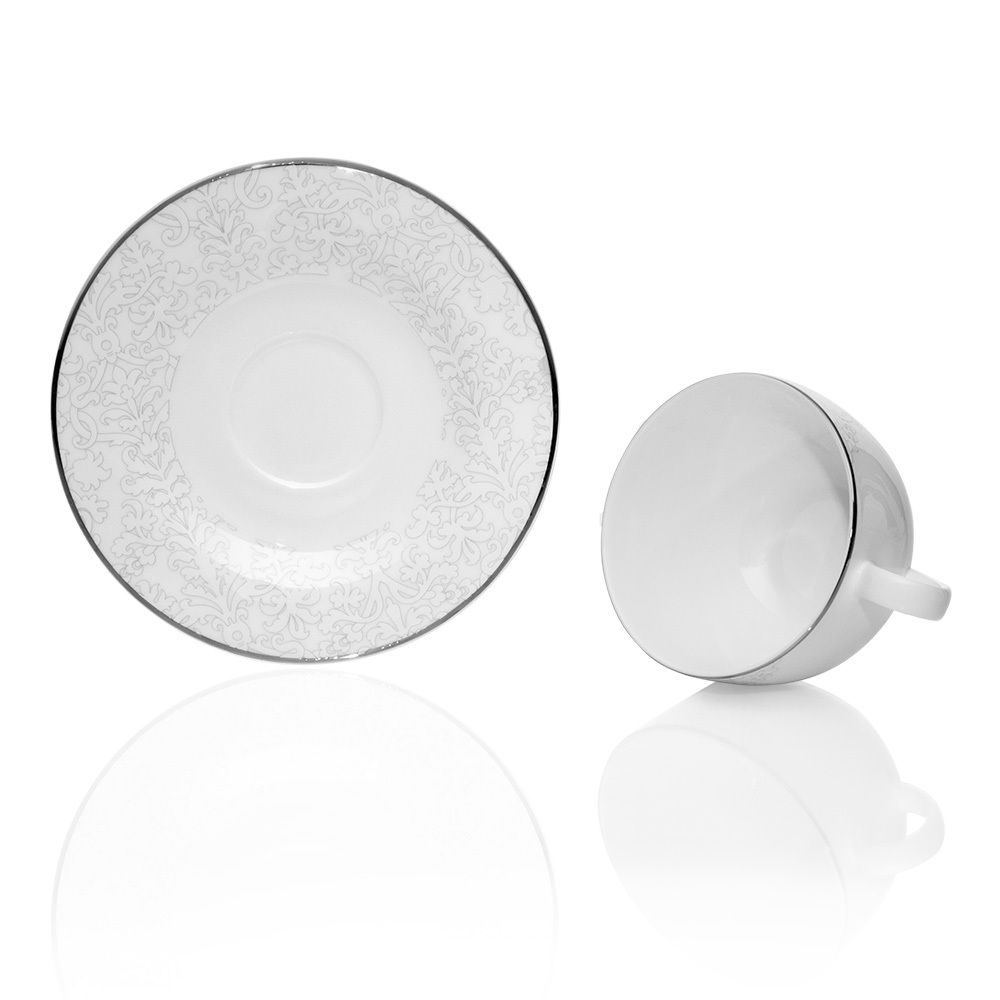 Azimut White 29 Parça Yuvarlak Çay Takımı