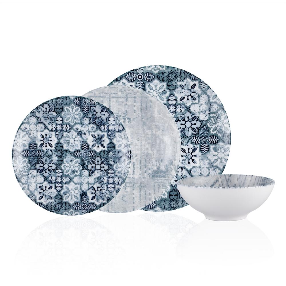 Azure 6 Kişilik 24 Parça Yemek Takımı -Mavi