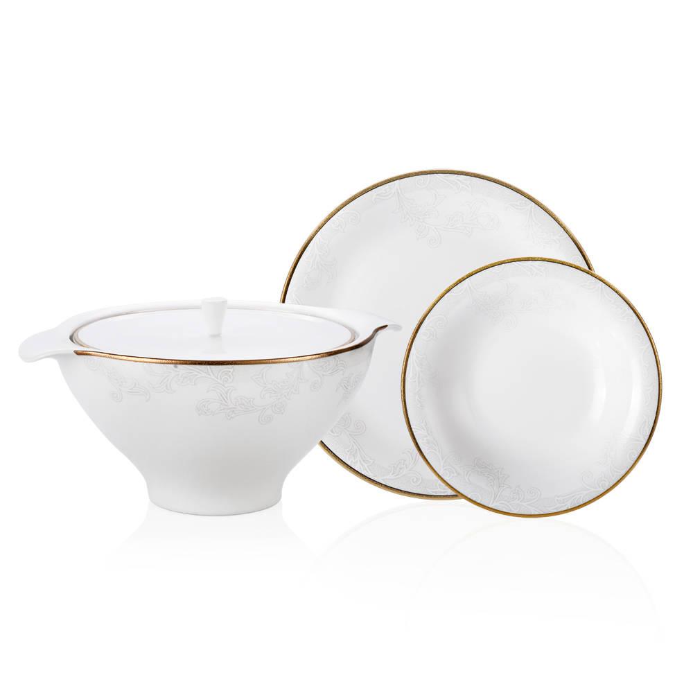 Balny Gold 12 Kişilik 70 Parça Royal Bone China Yemek Takımı