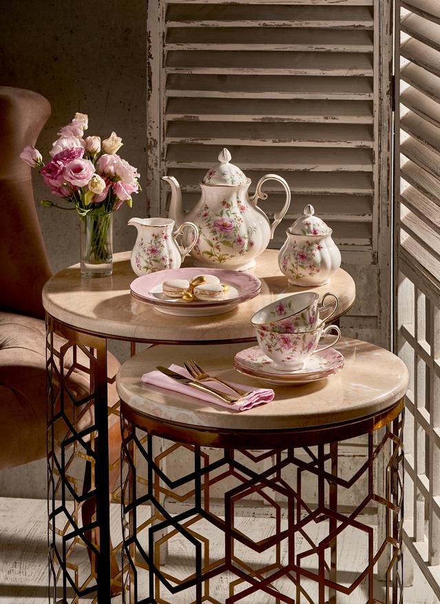 23 Parça Çay Seti Çiçekli