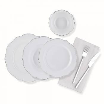 - Bernardo 24 Parça Yemek Takımı-Platin