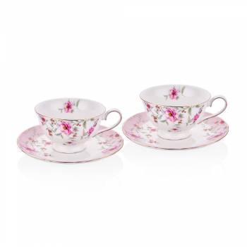- Bernardo 2'li Çay Fincan Takımı Çiçekli