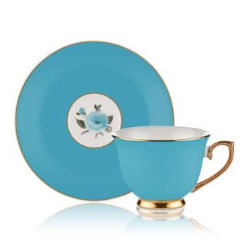 2'li Çay Fincan Takımı-Mavi - Thumbnail