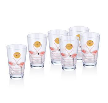 Bernardo 6'lı Meşrubat Bardağı-Flamingo - Thumbnail