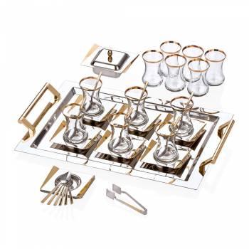 - Bernardo Avıones Gold 40 Parça Çelik Set