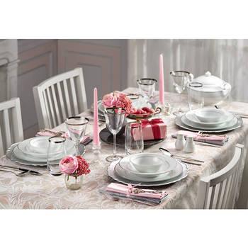 - Bridal 12 Kişilik 57 Parça Porselen Yemek Takımı