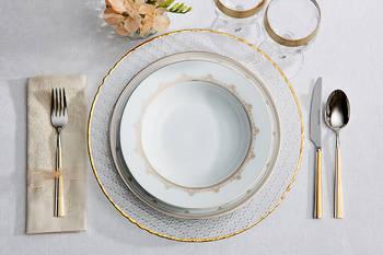- Golden Heritage 12 Kişilik 57 Parça Porselen Yemek Takımı (1)