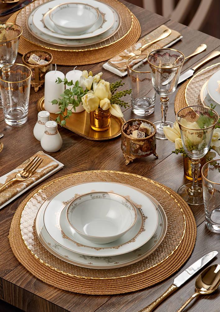 Golden Heritage 12 Kişilik 57 Parça Porselen Yemek Takımı