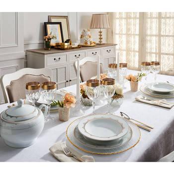 - Golden Heritage 12 Kişilik 57 Parça Porselen Yemek Takımı