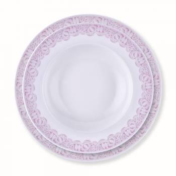 Pınk Lace 24 Parça Yemek Takımı - Thumbnail